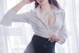 过期米线线喵 小秘书 白色OL [37P/30.4M]