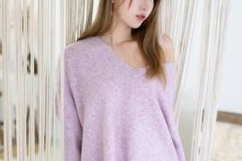 [黑川] 人气Coser 紫色毛衣 [14P/134M]