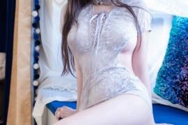 过期米线线喵 灰色蕾丝旗袍 [29P/117M]