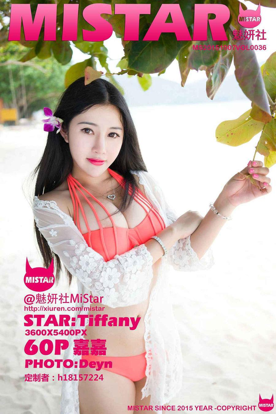 [MiStar魅妍社] VOL.036 嘉嘉Tiffany- [60+1P/312M]